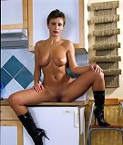 Short hair girl with boots