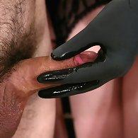 Femdom spanking and strapon fucking