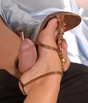 Hot heels and a footjob