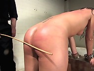 Submissive tormented and spayed by cum