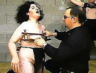 Mean tit torture & spanking