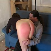 Secretary was spanked otk and caned