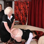 A mature slut got paddled