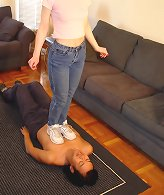 Slave humiliated and trampled