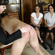 Group spanking of bad boy