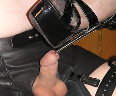 Mistress humiliated a tied slave