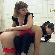 Teen spanked by hairbrush and humiliated