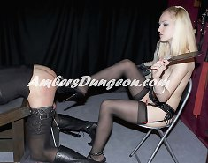Mistress dominated malesub by feet and fucked him