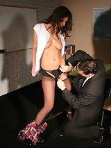 Schoolgir babe Diana got dominated by her teacher