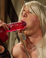 Mandy Bright is dominating hot blonde Chloe Bright