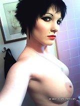 Nice photo gallery of punk Arabella doing her vanity shots