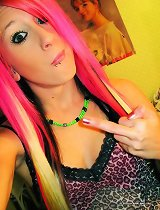 Nice photo gallery of a punk chick with pierced lips