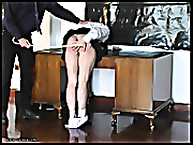 Lustful doll was caned on the bare