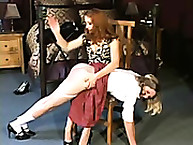 Cute juvenile canary is Spanked now the Knee