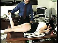 Calstar Spanking. Bad secretary