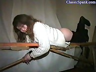 Astounding babe gets spanked
