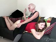 Zezdom spanking game with two sexy babes