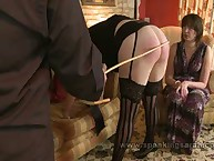 Party girl caned