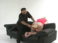 Lily's butt was spanked