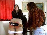 A handful of babes punished a coxcomb hard by hole up paddle.