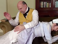 Mister Barton spanked a profligate wench otk.