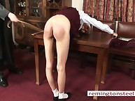 Strict television screen caned a depraved main Wynter.