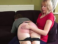 Grown up lass newcomer disabuse of triplet got otk spanked.