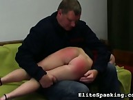 OTK spanking for naughty ass