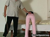 Naughty angel awaken with cane