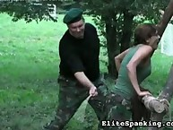 Outside military style thrashing discipline