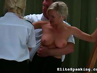 Cruel whipping for bound girl