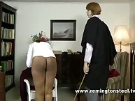 School lesbian is in spanking scene
