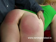 Chubby mature was spanked hard