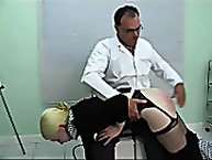 Wonderful miss has her bottom whipped