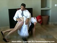 Redhead teeny getting OTK spanking