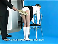 Timid half-formed skirt Gets Spanked predominance the Studio