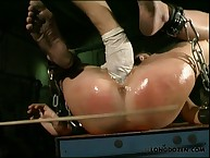 Amy was finger fucked and caned