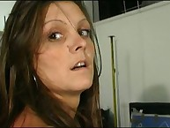 Bondage and whipping in garage