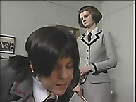Lupus Spanking. Schoolgirl bitch is caned