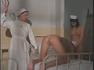 Medical spanking for fetish lady