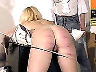 Rival slut was caned