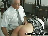 Principal adores OTP spanking schoolgirls