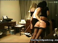 MILF flogging juvenile girls' asses