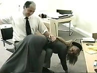 Boss gnarly his blond secretary