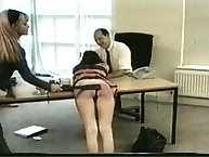 Boss enjoying superior his secretaries