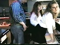 Two young girls getting spanked