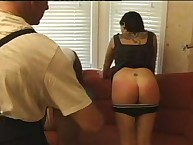 Interracial big ass caning action