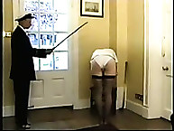 Navy Slut Brutally Punished by Cane