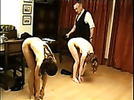 Two unsealed Bitches Spanked on Their Asses