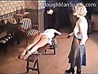 Rough Man Spank. Three girls